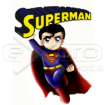Superman Flying Chibi